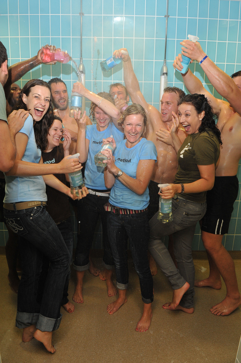 Mixed gender shower
